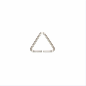 Sterling Silver Open Triangle Jump Ring, 20.5ga 7.6mm *new* USA 20pc