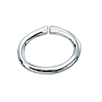 Sterling Silver Oval Open Jump Rings 5x7mm, (25) discont