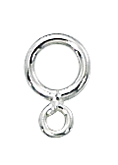 Sterling Silver Ring for S hooks and clasps, packs of 10