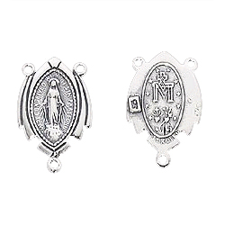 Sterling Silver Rosary Station, Miraculous Medal, on sale, rost1