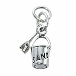 Sterling Silver Sand Pail and Shovel Charm - out of stock