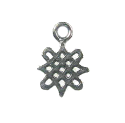 Sterling Silver Small Celtic Knot Charm, 12x8.5mm, Irish, Ireland