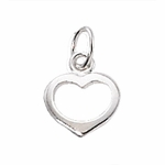 Sterling Silver Small Open Heart Charm