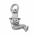 Sterling Silver Snowman Charm