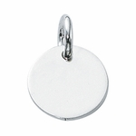Sterling Silver Solid Round 17mm Disc Charm - Engrave it!