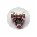 Sterling Silver Tube Style Bail with Closed Ring Bail #14 , leather cord bail