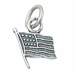 Sterling Silver USA Flag Charm
