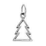 Sterling Silver  Xmas Tree Outline Charm