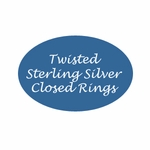 Sterling Sliver Twisted Closed Jump Rings Bali & Bali Style