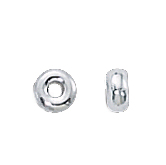 Sterling Silver Smooth Rondelles 3mm (50)