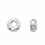 Sterling Silver Smooth Rondelles 4mm (50)