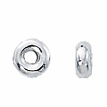 Sterling Silver Smooth Rondelles 5mm (25)