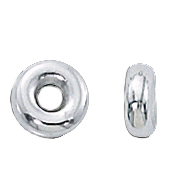Sterling Silver Smooth Rondelles 6mm (25)