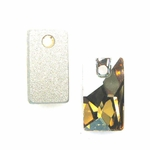 Swarovski 3500 Pendular Lochrose 12.5x7mm, Crystal Golden Shadow