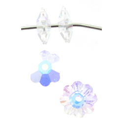 Swarovski 3700 10mm Margarita  Crystal AB (6pcs),  Marguerite Lochrose, Sew On, Spacer Bead