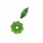 Swarovski 3700 10mm Margarita   Fern Green (6pcs) ,  Marguerite Lochrose, Sew On, Spacer Bead