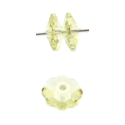 Swarovski 3700 6mm Margarita Jonquil (24pcs),  Marguerite Lochrose, Sew On, Spacer Bead