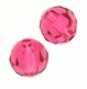 Swarovski 5000 6mm Round  Indian Pink Color Beads (24pk)