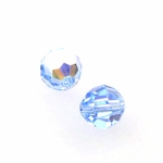 Swarovski 5000 6mm Round  Light Sapphire AB Color Beads (24pk)