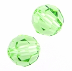 Swarovski 5000 8mm Round  Peridot Color Beads (12)