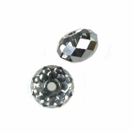 Swarovski 5040 6mm Crystal Silver Night  Briolette Crystal Bead (24pk)