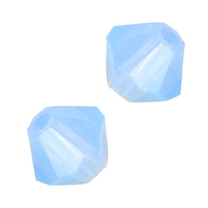 Swarovski 5301 4mm  bicone / xilion Air Blue Opal