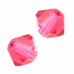 Swarovski 5301 4mm bicone / xilion  Indian Pink