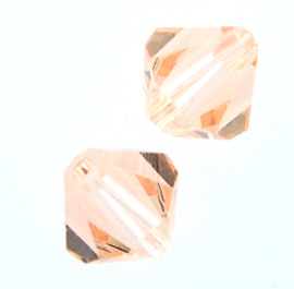 Swarovski 5301 6mm bicone / xilion  Light Peach (24)