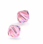Swarovski 5301 6mm bicone / xilion  Light Rose