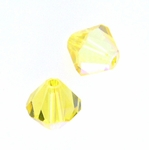 Swarovski 5301 6mm bicone / xilion  Light Topaz AB (24pk)