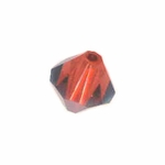 Swarovski 5301 8mm bicone / xilion  Crystal Red Magma (12)