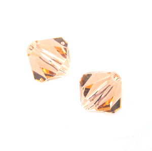 Swarovski 5301 8mm bicone / xilion  Light Peach (12)