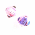 Swarovski 5301 8mm bicone / xilion  Light Rose AB (12)