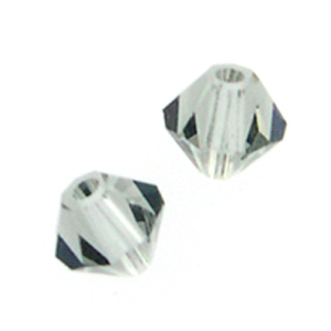 Swarovski 5328 4mm  bicone / xilion Black Diamond