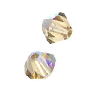 Swarovski 5328 4mm bicone / xilion  Light Colorado Topaz AB (48pk)