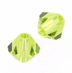 Swarovski 5328 4mm bicone / xilion Light Olivine