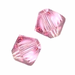 Swarovski 5328 4mm bicone / xilion  Light Rose