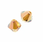 Swarovski 5328 6mm bicone / xilion  Crystal Copper