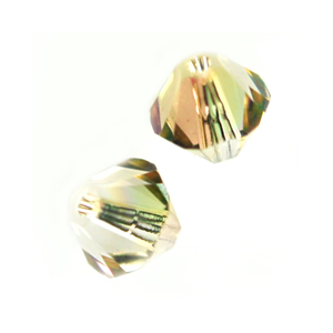 Swarovski 5328 6mm bicone / xilion  Crystal Luminous Green