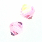Swarovski 5328 6mm bicone / xilion  Light Rose AB (24)