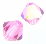 Swarovski 5328 6mm bicone / xilion  Rose AB (24pcs)