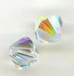 Swarovski 6301 8mm bicone / xilion  Crystal AB  *changed*