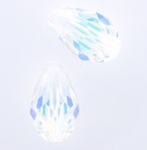 Swarovski 5500 Crystal AB Drops 9x6mm (4pk)