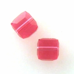 Swarovski 5601 6mm cube  Indian Pink (12pk)