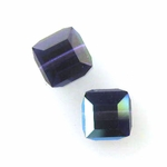 Swarovski 5601 6mm cube  Purple Velvet AB (12)