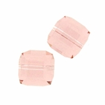 Swarovski 5601 8mm cube  Vintage Rose (6)