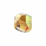 Swarovski 5603  Graphic Cube 6mm Crystal Copper Color Beads (12pk)