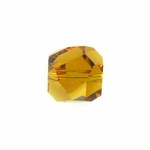 Swarovski 5603  Graphic Cube 6mm Topaz Color Beads (12pk)
