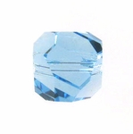 Swarovski 5603  Graphic Cube 8mm Aquamarine Color Beads (6pk)
