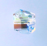 Swarovski 5603  Graphic Cube 8mm Crystal AB Color Beads (6pk)